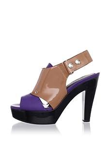 MARNI Women's Slingback Platform Sandal (Violet)