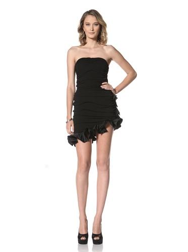Paul & Joe Women's Osiris Strapless Dress With Ruffle Trim (Black)
