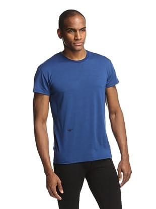 Dior Men's Embroidered Bug T-Shirt (Blue)