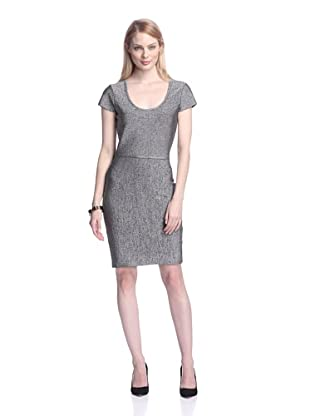 Erin Fetherston Women's Helen Fitted Dress with Back Bows (Black/White)