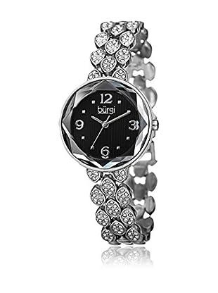 Bürgi Uhr mit schweizer Quarzuhrwerk Woman silberfarben/schwarz 28 mm