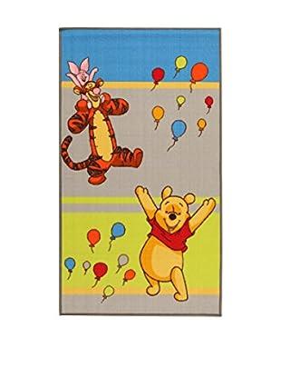 Disney Teppich Disney A.L. Winnie & Friends Balloons grün/grau/blau 80 x 140 cm