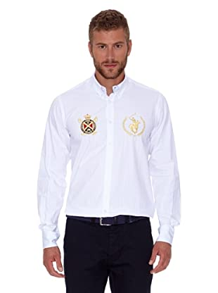 Polo Club Camisa Hombre Fitted (Blanco)