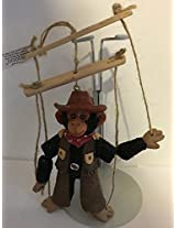 "Aurora Resin Monkey 4.25"" Marionette Ornament 09256"