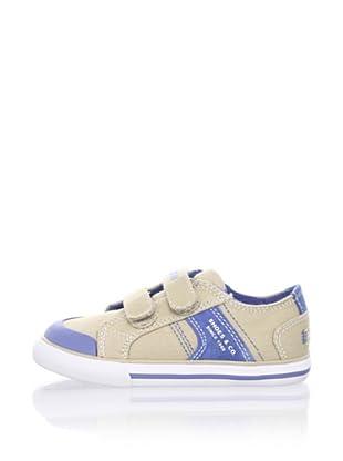 Pablosky Kid's Double-Strap Sneaker (Beige)