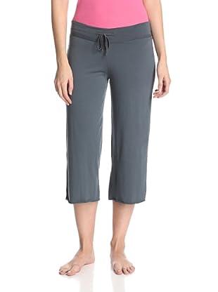 SKIN Women's Double Jersey Crop Pant (Mineral Blue)
