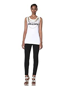 Moschino Cheap and Chic Women's Rock-à-Porter Necklace Tee (White)