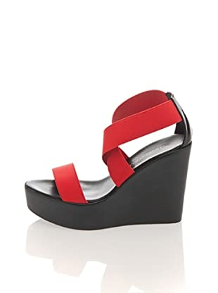 Pollini Keil-Sandalette (Rot)
