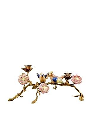 Bird & Flower Candleholder