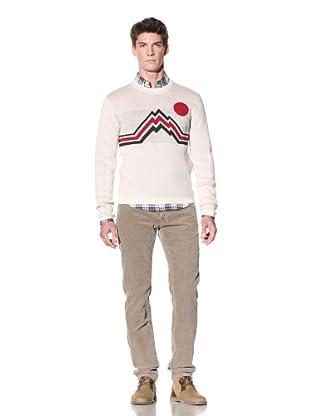GANT by Michael Bastian Men's Avengers Jacquard Pullover Sweater (Off white)