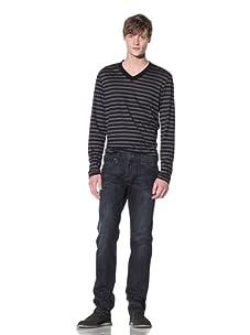 William Rast Men's Luke Straight Jean with Flap Back Pocket (China)