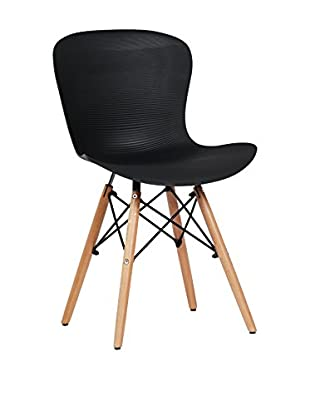 LO+DEMODA Stuhl 2er Set Tower Curve Negro