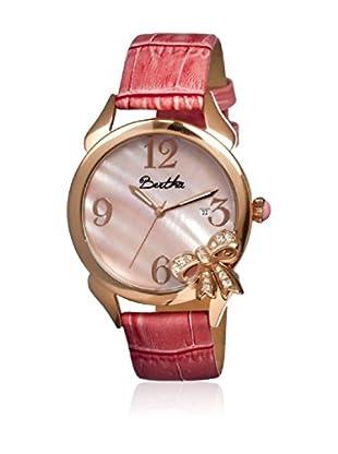 Bertha Uhr mit Japanischem Quarzuhrwerk Bow rosa 41 mm