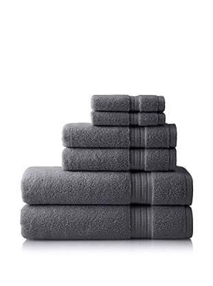 Pure Fiber Zero Twist 6-Piece Towel Set, Grey