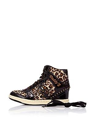 Skechers Botas Moolah - Purrrr (Negro / Leopardo)