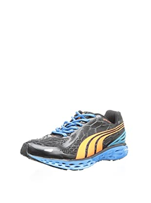 PUMA Men's BioWeb Elite Running Shoe (Black/Orange Popsicle/Malibu Black)