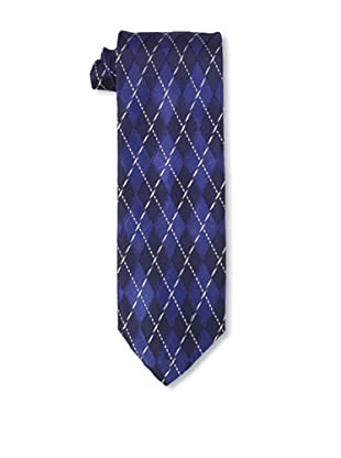 Massimo Bizzocchi Men's Argyle Tie, Blue/Black