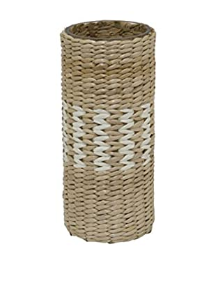 Three Hands Zigzag Woven Glass Vase