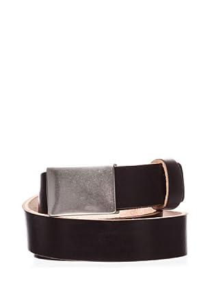 Dockers Cinturón de Cuero con Cierre de Placa (negro)