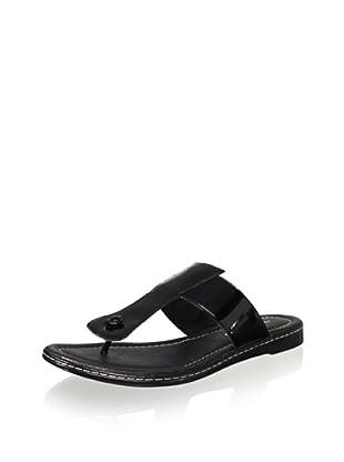 Donald J Pliner Women's Glide Flat Thong Sandal (Black)