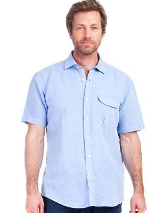 Cortefiel Camisa Bolsillo Clásica (Azul)