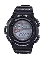 Maxima Ego Digital Black Dial Men's Watch - E-35041PPDN