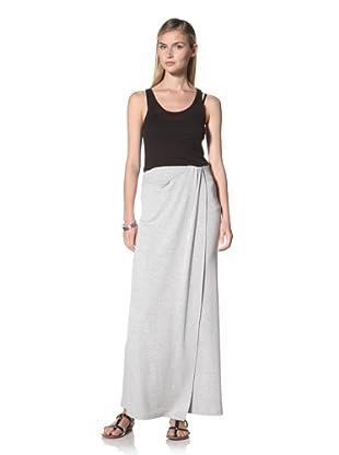 Poleci Women's Overlay Maxi Skirt (Grey)