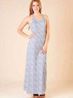 By Basi Vestido Estampado (gris / azul)