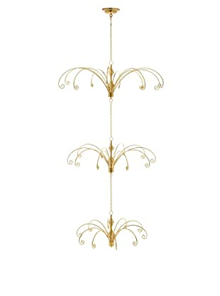 Kurt Adler Metal Gold Ceiling Suspended Tree