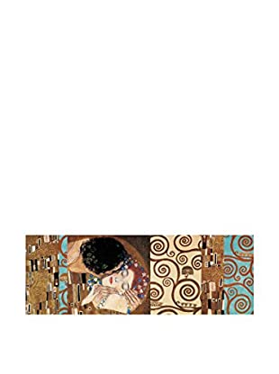 Artopweb Panel Decorativo Klimt Ii 150° Anniversary (The Kiss) 48x136 cm