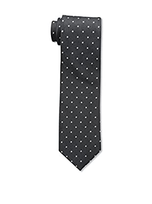 Bruno Piattelli Men's Dot Silk Tie, Black