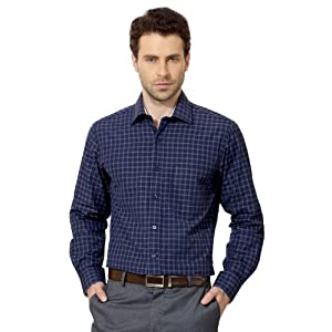 Peter England PSF51301942 Checked Shirt - Blue
