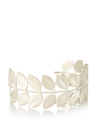Eddera Silver Leaf Cuff