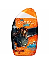 L'Oreal Kids 2 - In - 1 Shampoo - Orange - Hiccup & Toothless 9 Fl Oz - 265 Ml