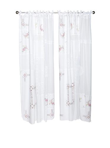 lazybones Set of 2 Siena Tab-Top Curtain Panels (White)