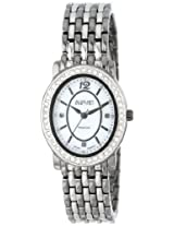 August Steiner Women's AS8043TTB Dazzling Diamond Oval Bracelet Watch