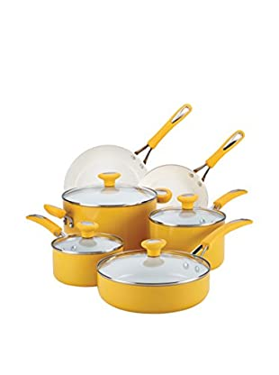 SilverStone 12-Piece Mango Yellow Ceramic CXI Nonstick Cookware Set