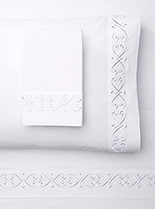 Westport Linens Modern Swirl Embroidered Sheet Set