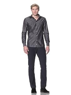 Benson Men's Button-Up Shirt (Grey)