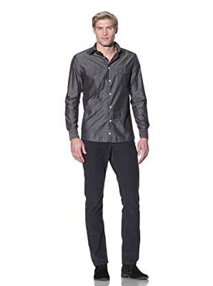 Benson Men's Button-Up Shirt (Grey)