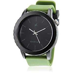 Fastrack Tees Nd9912Pp24 Green / Black Analog Watch