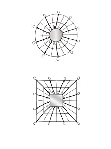 Mercana Set of 2 Jada/Jerik Mirrors, Brown