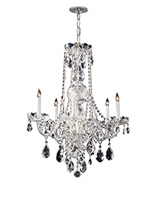 Gold Coast Lighting Traditional Crystal 5-Light Crystal Chrome Chandelier, Polished Chrome