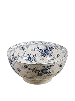 French Toile Bowl, Blue
