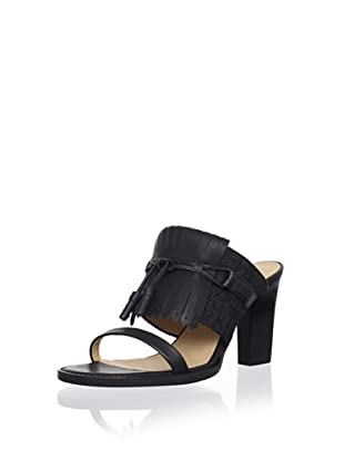 Veronique Branquinho Women's Fringed Slip-On Sandal (Black/Grey/Nero/Grigio)