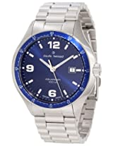 Claude Bernard Men's 70165 3B BUIN Aquarider Blue Dial Stainless Steel Date Watch
