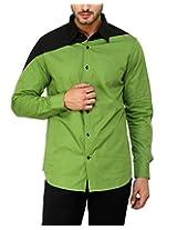 See Designs Men Buttoned Shirt (SDMDWSS15SH620_XS, GREEN, XS)