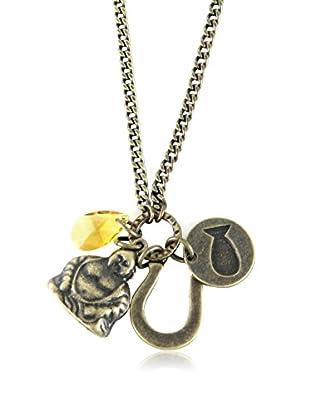 Ettika Antique Brass Dreams of Destiny Charm Necklace