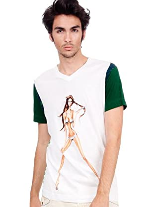 Custo Camiseta Pix Metalic (Blanco / Verde)