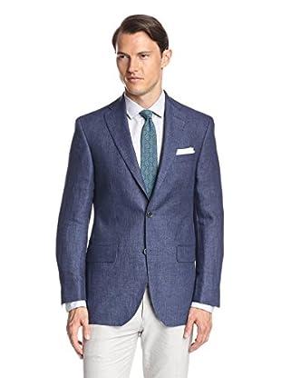 Lanza Men's Solid Linen Sportcoat